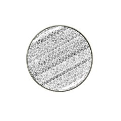 Silver Abstract And Stripes Hat Clip Ball Marker (4 Pack) by timelessartoncanvas