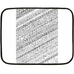 Silver abstract and Stripes Fleece Blanket (Mini) by timelessartoncanvas