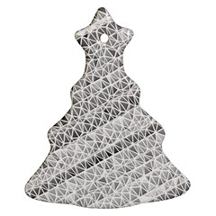 Silver Abstract And Stripes Christmas Tree Ornament (2 Sides) by timelessartoncanvas