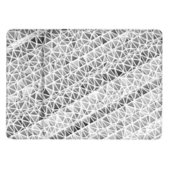 Silver Abstract And Stripes Samsung Galaxy Tab 10 1  P7500 Flip Case by timelessartoncanvas