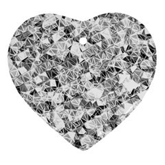 Silver Abstract Design Heart Ornament (2 Sides) by timelessartoncanvas