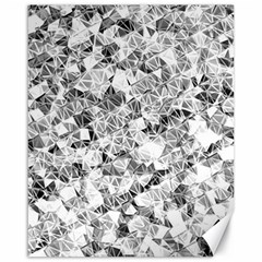 Silver Abstract Design Canvas 16  X 20   by timelessartoncanvas