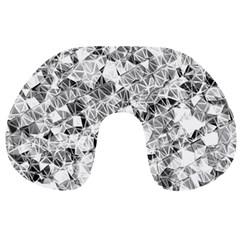 Silver Abstract Design Travel Neck Pillows by timelessartoncanvas