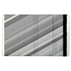 Elegant Silver Metallic Stripe Design Apple Ipad 3/4 Flip Case by timelessartoncanvas