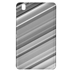 Elegant Silver Metallic Stripe Design Samsung Galaxy Tab Pro 8 4 Hardshell Case by timelessartoncanvas
