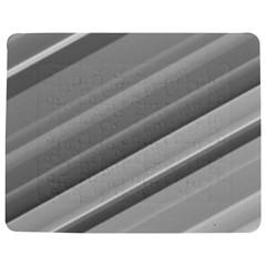 Elegant Silver Metallic Stripe Design Jigsaw Puzzle Photo Stand (rectangular) by timelessartoncanvas