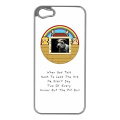But The Pit Bull Apple Iphone 5 Case (silver) by ButThePitBull