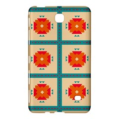 Shapes In Squares Pattern samsung Galaxy Tab 4 (8 ) Hardshell Case by LalyLauraFLM