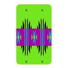 Tribal Shapes On A Green Background memory Card Reader (rectangular) by LalyLauraFLM