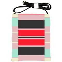 Rectangles In Retro Colors  shoulder Sling Bag by LalyLauraFLM