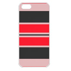 Rectangles In Retro Colors  			apple Iphone 5 Seamless Case (white) by LalyLauraFLM