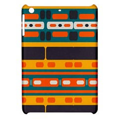Rectangles In Retro Colors Texture apple Ipad Mini Hardshell Case by LalyLauraFLM