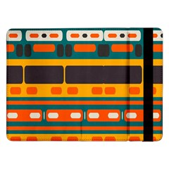 Rectangles in retro colors texture Samsung Galaxy Tab Pro 12.2  Flip Case by LalyLauraFLM