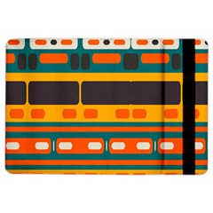 Rectangles In Retro Colors Texture 			apple Ipad Air 2 Flip Case by LalyLauraFLM