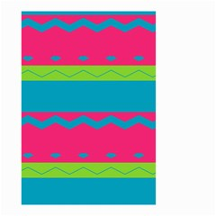 Chevrons And Stripes  Small Garden Flag by LalyLauraFLM