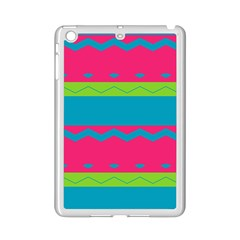Chevrons And Stripes  apple Ipad Mini 2 Case (white) by LalyLauraFLM