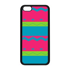 Chevrons And Stripes  apple Iphone 5c Seamless Case (black) by LalyLauraFLM