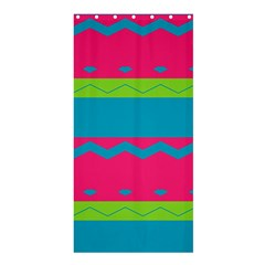 Chevrons and stripes  	Shower Curtain 36  x 72  by LalyLauraFLM