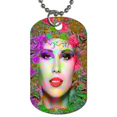 Flowers In Your Hair Dog Tag (one Side) by icarusismartdesigns