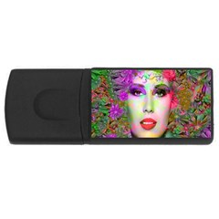 Flowers In Your Hair Usb Flash Drive Rectangular (4 Gb)  by icarusismartdesigns