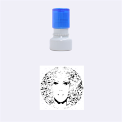 Flowers In Your Hair Rubber Round Stamps (Small) by icarusismartdesigns