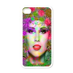 Flowers In Your Hair Apple Iphone 4 Case (white) by icarusismartdesigns