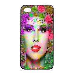 Flowers In Your Hair Apple Iphone 4/4s Seamless Case (black) by icarusismartdesigns