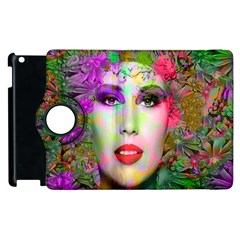 Flowers In Your Hair Apple Ipad 2 Flip 360 Case by icarusismartdesigns