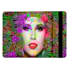 Flowers In Your Hair Samsung Galaxy Tab Pro 12.2  Flip Case by icarusismartdesigns