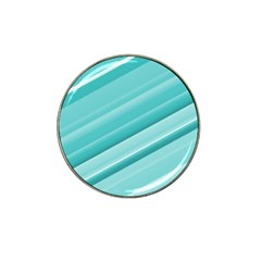 Teal And White Fun Hat Clip Ball Marker (10 Pack) by timelessartoncanvas