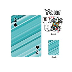 Teal And White Fun Playing Cards 54 (mini)  by timelessartoncanvas
