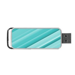 Teal and White Fun Portable USB Flash (One Side) by timelessartoncanvas