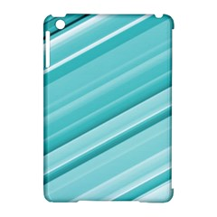 Teal And White Fun Apple Ipad Mini Hardshell Case (compatible With Smart Cover) by timelessartoncanvas