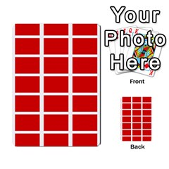 Red Cubes Stripes Multi Purpose Cards (rectangle)  by timelessartoncanvas