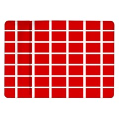 Red Cubes Stripes Samsung Galaxy Tab 10 1  P7500 Flip Case by timelessartoncanvas