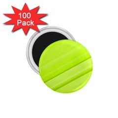 Bright Green Stripes 1 75  Magnets (100 Pack)  by timelessartoncanvas