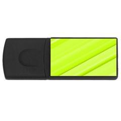 Bright Green Stripes USB Flash Drive Rectangular (2 GB)  by timelessartoncanvas