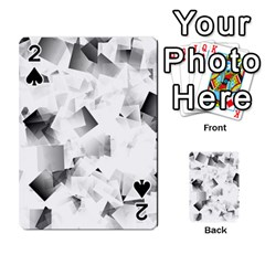 Gray And Silver Cubes Abstract Playing Cards 54 Designs  by timelessartoncanvas