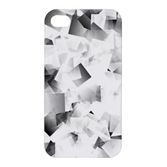 Gray And Silver Cubes Abstract Apple Iphone 4/4s Premium Hardshell Case by timelessartoncanvas