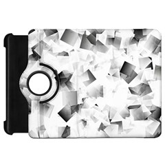 Gray And Silver Cubes Abstract Kindle Fire Hd Flip 360 Case by timelessartoncanvas