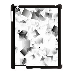 Gray And Silver Cubes Abstract Apple Ipad 3/4 Case (black) by timelessartoncanvas