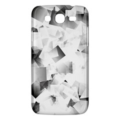 Gray And Silver Cubes Abstract Samsung Galaxy Mega 5 8 I9152 Hardshell Case  by timelessartoncanvas