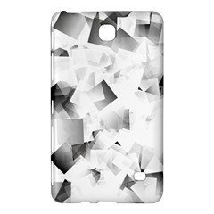 Gray And Silver Cubes Abstract Samsung Galaxy Tab 4 (8 ) Hardshell Case  by timelessartoncanvas