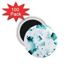 Modern Teal Cubes 1 75  Magnets (100 Pack)  by timelessartoncanvas