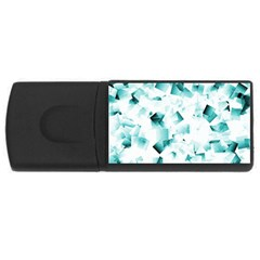 Modern Teal Cubes USB Flash Drive Rectangular (4 GB)  by timelessartoncanvas