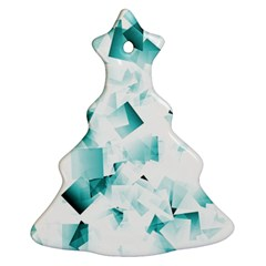 Modern Teal Cubes Christmas Tree Ornament (2 Sides) by timelessartoncanvas