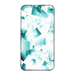 Modern Teal Cubes Apple Iphone 4/4s Seamless Case (black) by timelessartoncanvas