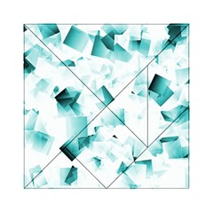 Modern Teal Cubes Acrylic Tangram Puzzle (6  X 6 ) by timelessartoncanvas