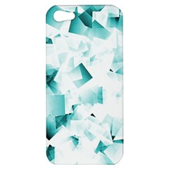 Modern Teal Cubes Apple Iphone 5 Hardshell Case by timelessartoncanvas