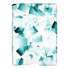 Modern Teal Cubes Samsung Galaxy Tab S (10 5 ) Hardshell Case  by timelessartoncanvas